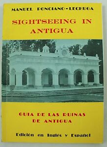 Vintage Sightseeing Antigua English Spanish Guide Booklet Book 1950s Travel