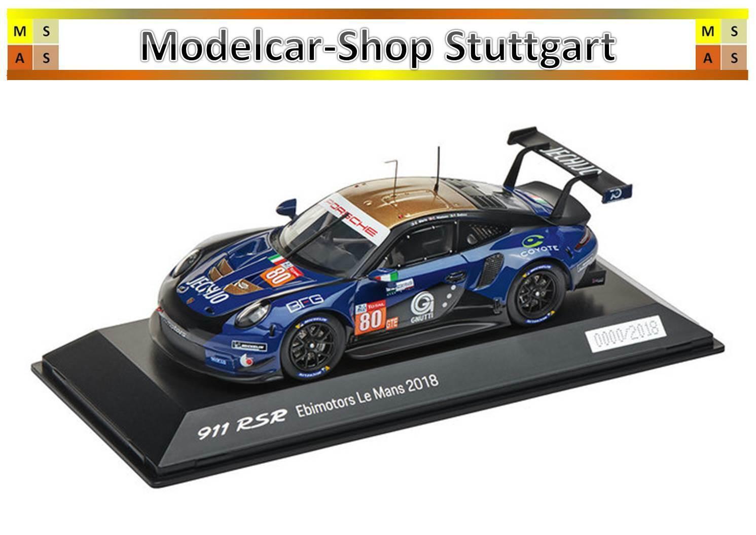 PORSCHE 911 RSR 2018 Ebi Motors Le Mans 2018 SPARK 1 43 wap0209230k