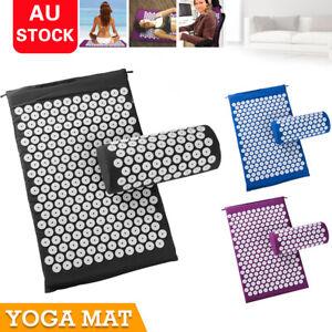 Massage-Acupressure-Mat-Yoga-Shakti-Sit-Lying-Mats-Cut-Pain-Stress-Soreness-NEW