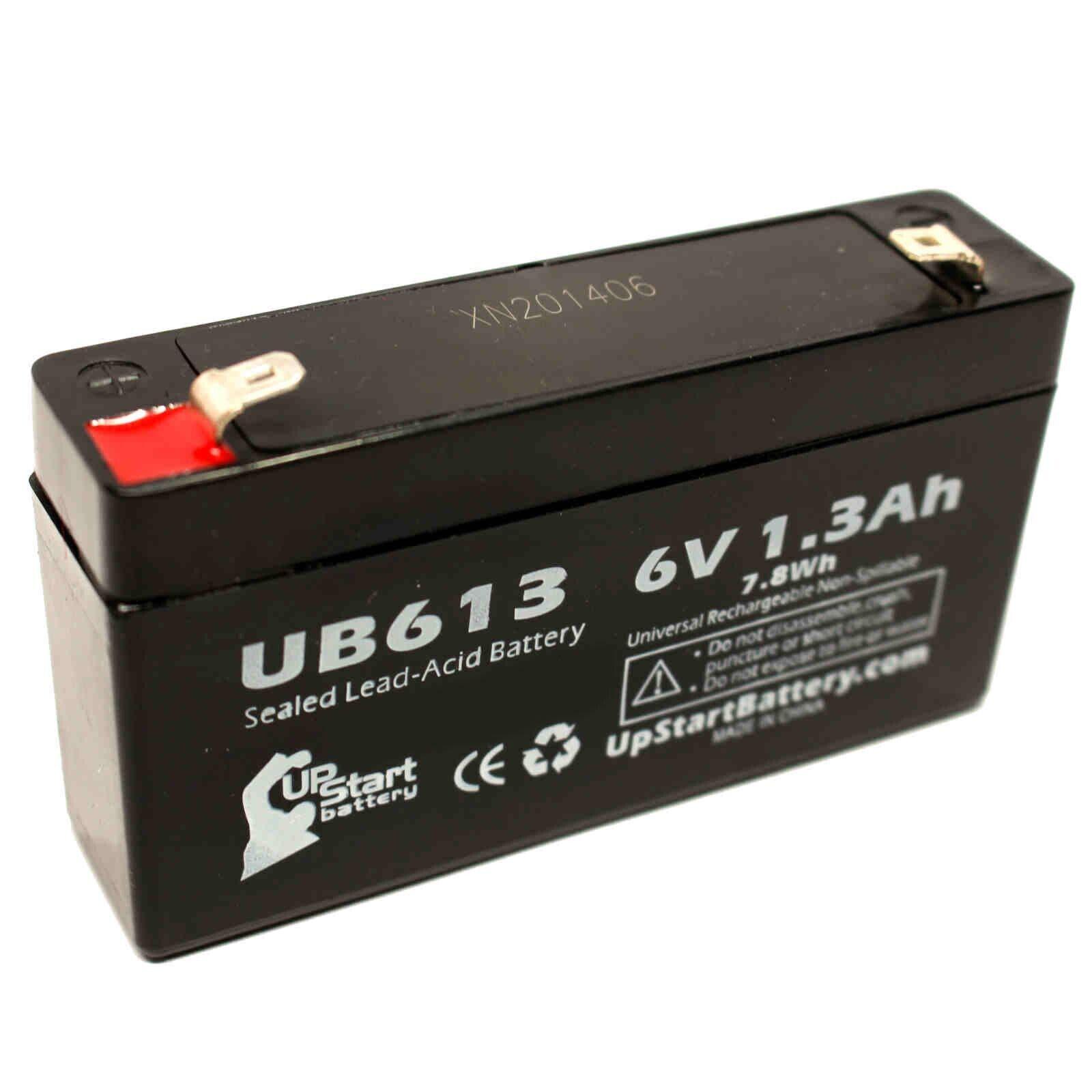 6V 1.3Ah Sealed Lead Acid Battery For LEOCH DJW6-1.2 UB613