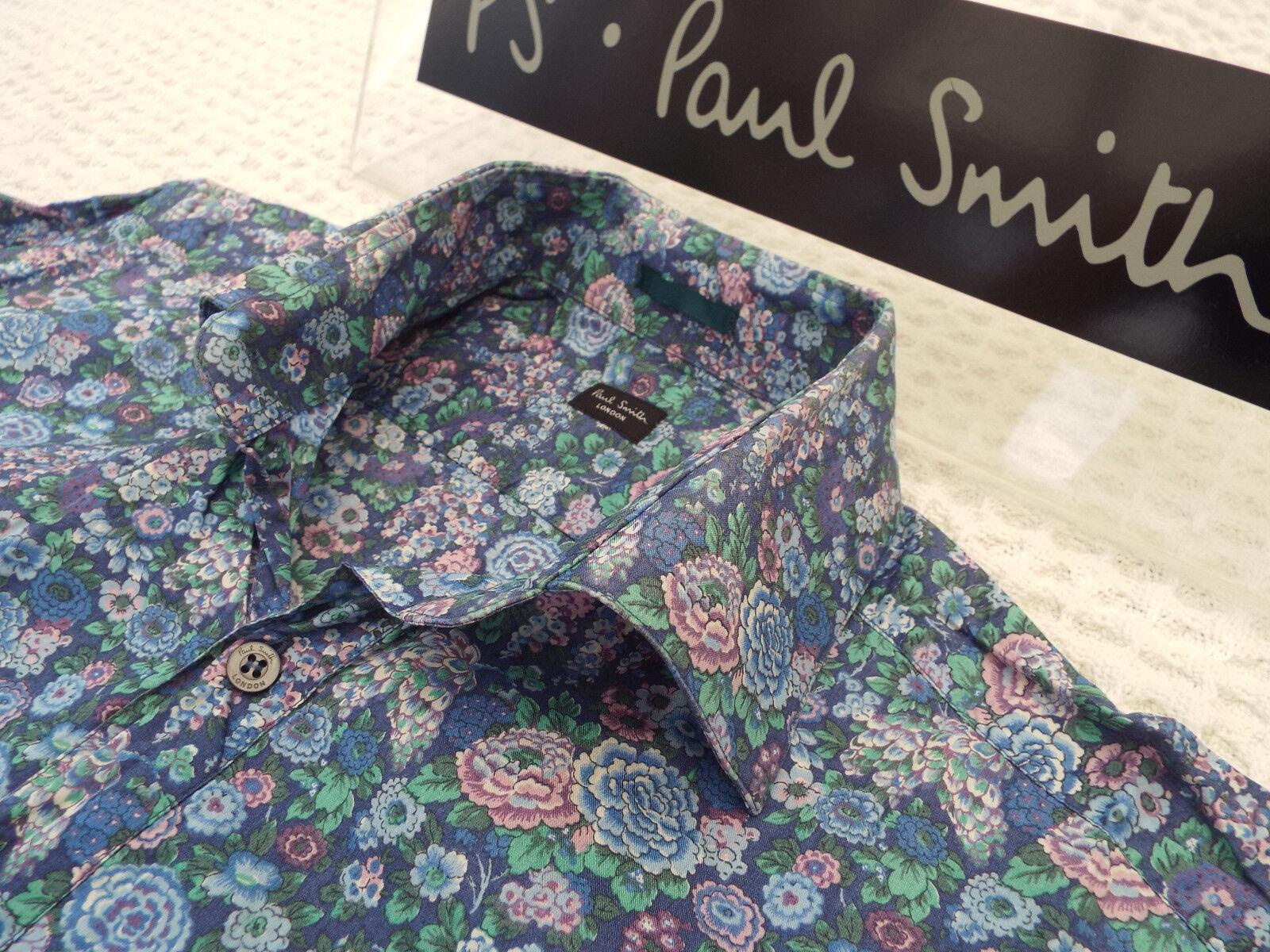 PAUL SMITH Mens Shirt  Größe 15.5  (CHEST 42 )  +FLORAL LIBERTY STYLE