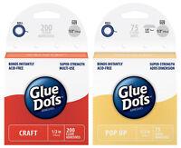 Glue Dots Sampler - 1 Box Each Of Craft 1/2 200 Dots & Pop Up 1/2 75 Dots