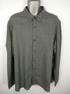BNWT-MENS-FAT-FACE-GREY-PATTERNED-BUTTON-UP-LONG-SLEEVE-CASUAL-SHIRT-2XL-2XLARGE