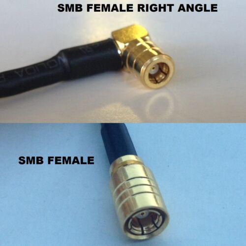 RG316 SMB FEMALE ANGLE to SMB FEMALE Coaxial RF Cable USA-US