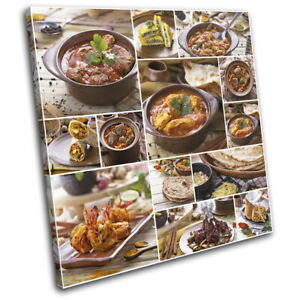 Spices-Indian-Cooking-Food-Kitchen-SINGLE-CANVAS-WALL-ART-Picture-Print