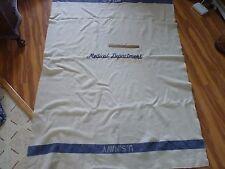 Genuine Esmond All Wool US Navy Striped Medical Department Blanket 54 by 80 Inch