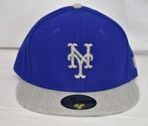 New Era 59Fifty Mens MLB New York Mets Fitted Baseball Hat Cap NWT ... 1ccb2f0d900c