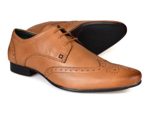 SILVER STREET LONDRES Flota Piel Marrón Para Hombre Zapatos Formales
