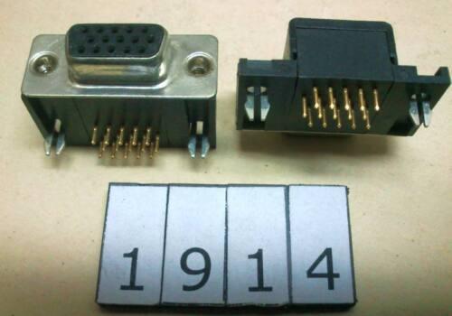 DSUB15F3 15pin 3rows D-SUB female connector for PCB angle Lot-5pcs