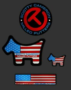 Scotty Cameron Stickers- USA- 4 Pack