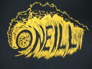Nwot-O-039-Neill-Surfing-Co-Since-1952-Grand-Roulant-Vague-Noir-XL-T-Shirt-D1091