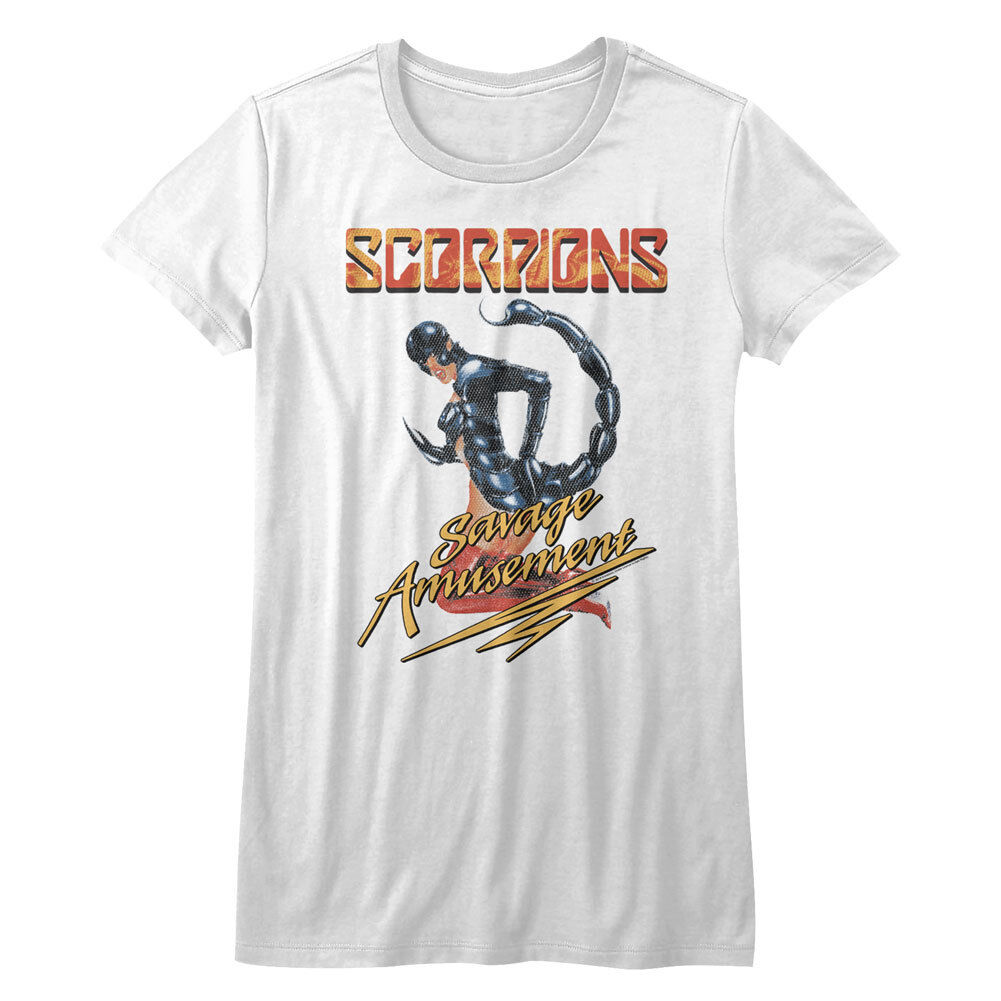 Scorpions Savage Amusement Womans Fitted T Shirt Heavy Metal Music