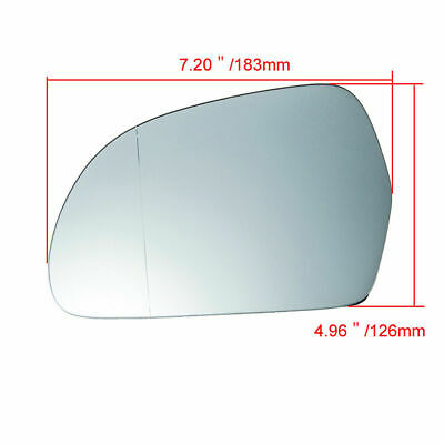 Passenger Side Rearview Mirror Glass Heated Plastic Backed for Audi A3 Q3 Skoda