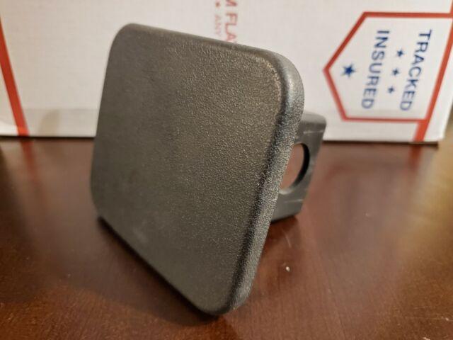 Car Wash Proof Guaranteed 1 1//4 Inch Black Trailer Hitch Receiver Cover Cap Plug