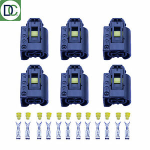 6-x-Mercedes-E-Class-Genuine-Diesel-Injector-Connector-Plug-Bosch-Common-Rail