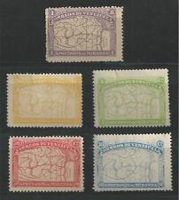 VENEZUELA # 137-141 Mint MAPS (Originals)