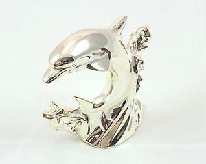Delfino resina argento disponibile in tre misure
