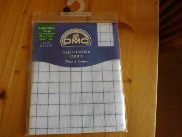 "DMC Needlework Fabric 25 Count Waste Canvas Cross Stitch Fabric 14/"" x 18/"""