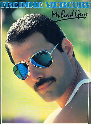 1985 Freddie Mercury Mr Bad Guy  songbook Queen sheet music song book Brian May