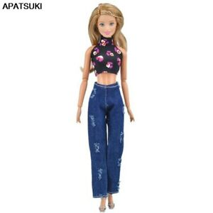 "1set Fashion Outfits for 11.5/"" Doll Clothes Short Top Pants Trousers DIY Toy 1//6"