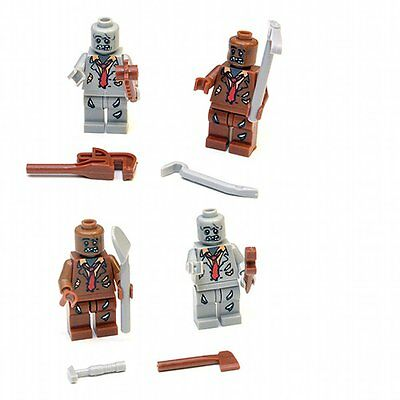 Zombie Graveyard Custom Minifigure Set Walking Dead Halloween TWD Horde
