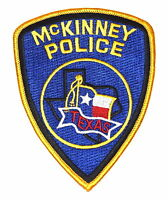 Mc Kinney Texas Police/sheriff Patch Lone Star State Flag