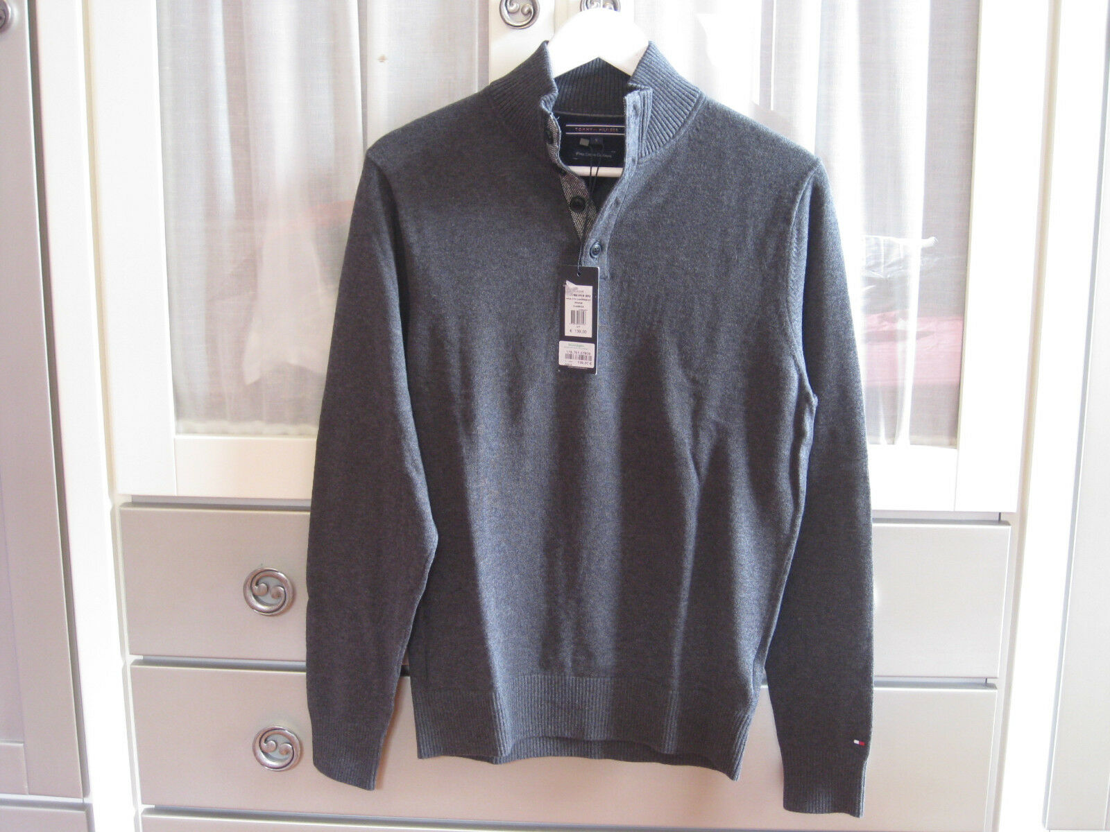 JERSEY TOMMY HILFIGER PIMA COTTON CASHMERE PULLOVER S