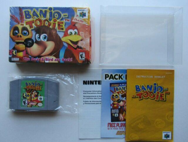 ✅ *MINT* Banjo Tooie Nintendo 64 N64 Complete In Box CIB Super Rare Boxed Set
