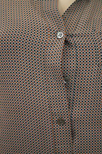 Orange Sz0; Shirt 100 Geometric Silk Black Dress Print amp; Mini Theory Uk4 Short PawqEBn