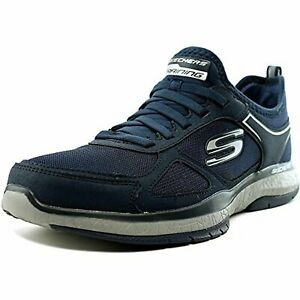 Skechers-Men-039-s-Burst-Athletic-Shoes-Air-Cooled-Memory-Foam-Navy