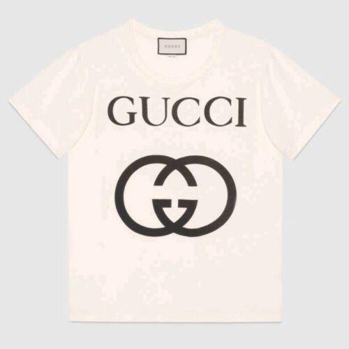 Gucci Men's UNISEX White Tshirt With Interlocking
