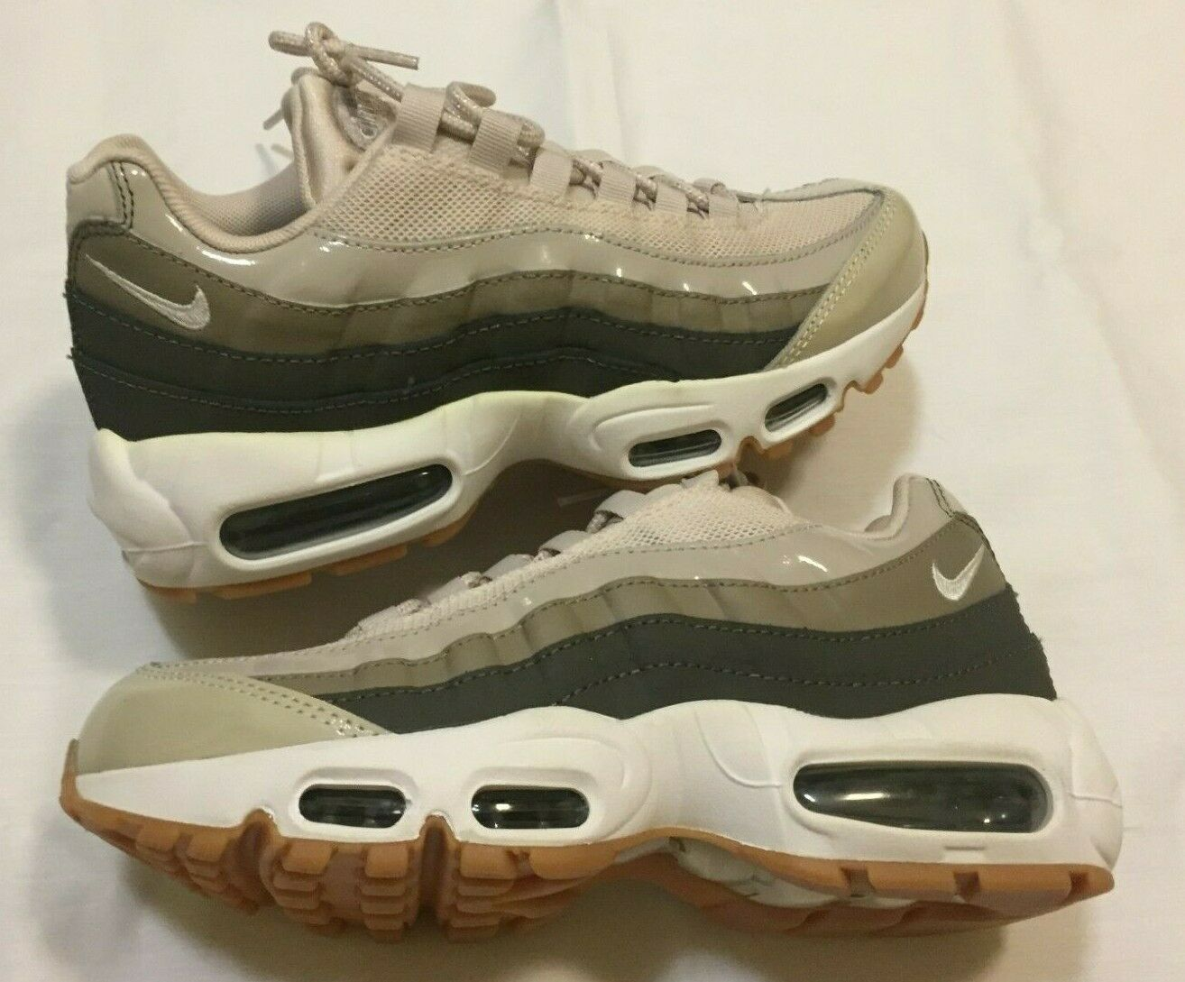NEW WOMENS NIKE AIR MAX 95 DESERT SAND RUNNING SHOES 307960-011 SIZE 7  MENS 5.5