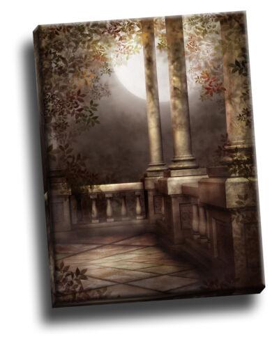 Gothic Varanda Giclee Arte Retrato De Lona