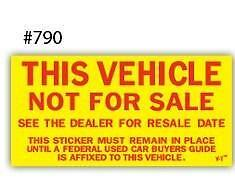 Kleer-bak Not For Sale Sticker with FREE SHIPPING