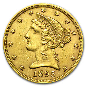 5 Liberty Gold Half Eagle Pre 33 Gold Coin Random Year Extra Fine Sku 119 Ebay