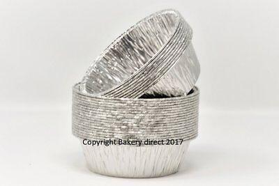 100 X Lamina D'argento Pukka Piatti Bistecca Rotonda A Torta Quiche 110x33mm- Materiali Superiori