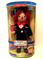 Raggedy Andy Porcelain Doll 85th Anniversary Brass Key Keepsakes 14 Inches Tall