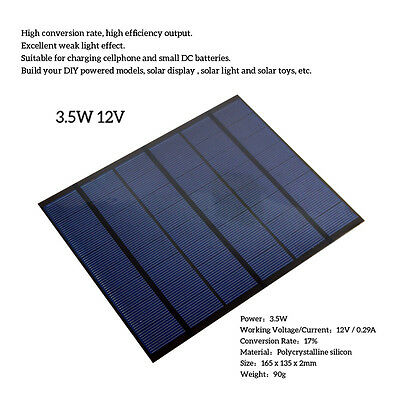 3W/3.5W/12V/18V DIY Solar Panel Module System For Battery Cell Phone Charger W