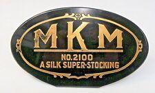 1930's MKM NO. 2100 A SILK SUPER-STOCKING counter top  Sign +