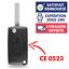 Boitier-Coque-Cle-Telecommande-pour-Plip-Peugeot-107-207-308-307-407-3008-CE0523 miniatura 1