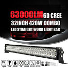 32 Inch 420W LED Light Bar Offroad Work Lamp Spot Flood Combo 4WD SUV Boat Truck