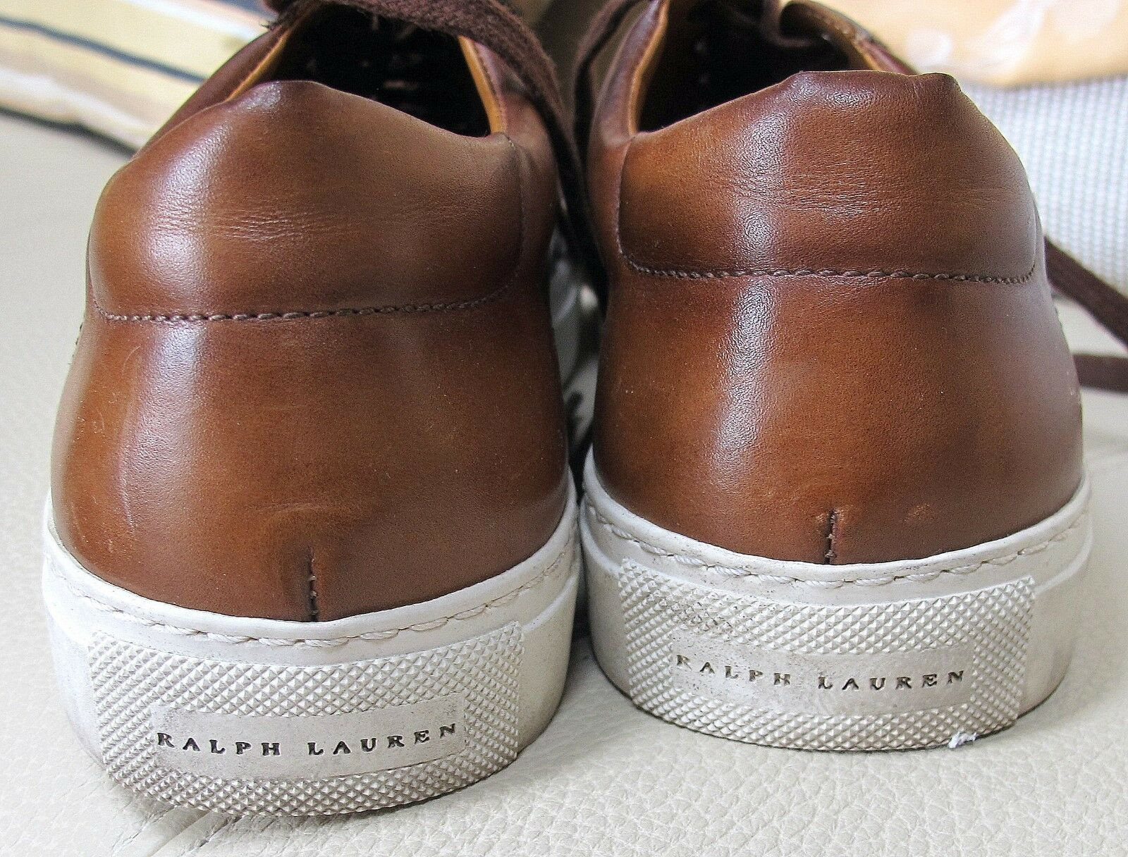 Ralph Lauren Collection Burnished Burnished Burnished Brown Italian Sneakers - Size 38B 2f381f