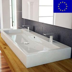 Design Waschbecken Waschtisch 100cm Doppelwaschbecken ...