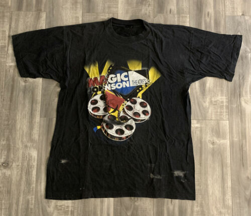Vintage 90s Magic Johnson Theaters Movie Graphic T