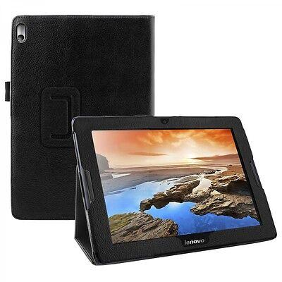 Schutz Tasche für Lenovo IdeaTab A10-70 A7600 Hülle Case Leder-Optik schwarz