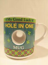Hole in One Golfers Lucky Mug/Cup Ganz Wrap design Euc