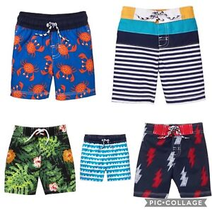 4fbcc8b89c Gymboree Swim Trunks Swimsuit Waves Crab Color Block Pixel Bolt 6 12 ...