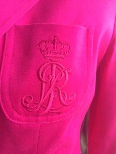 Lauren Ralph Taille 0 Veste Authentique Superbe Rose 34 E1Snq5IwO