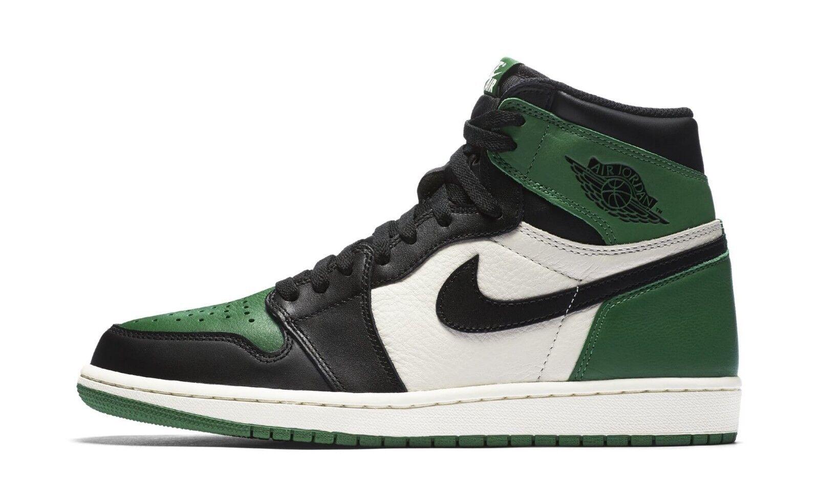 2018 Nike Air Jordan Retro 1 High OG SZ 14 Pine Green White Black 555088-302