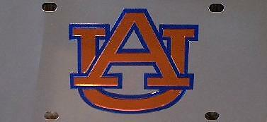 304 Stainless Steel 3D Plate Auburn University Tigers